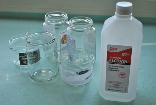 How to remove labels and repurpose glass jars and bottles