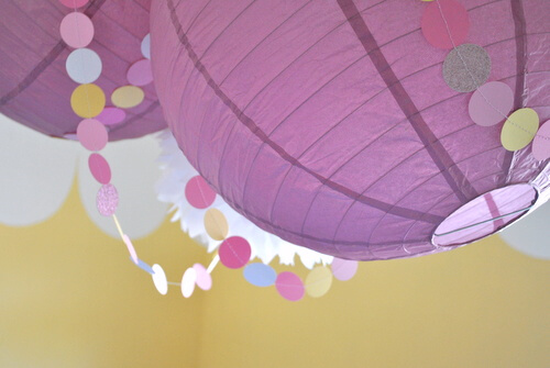 paper lanterns and assorted pretties