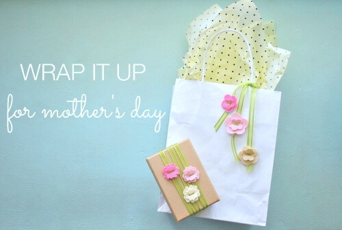DIY Mother's Day gift wrap + free printable gift tags