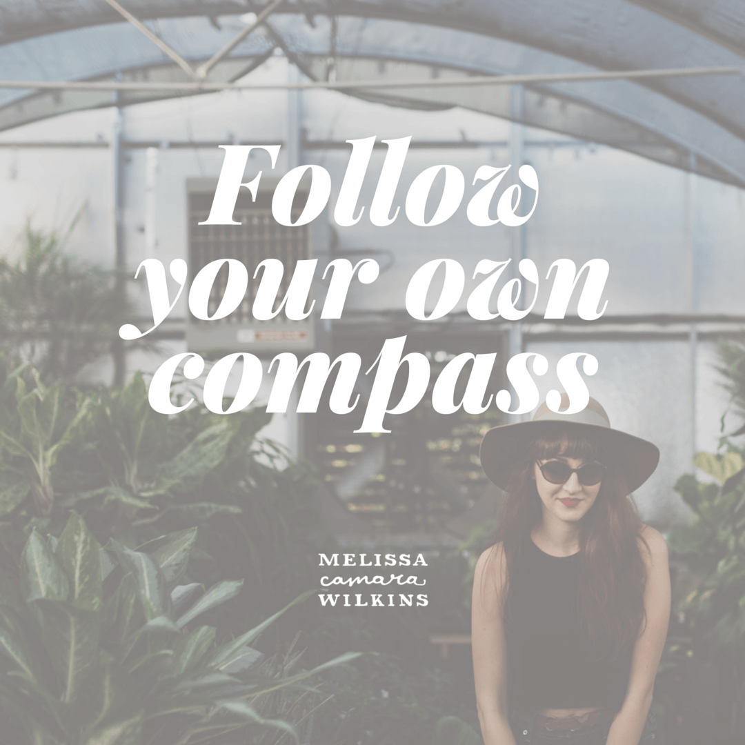 Follow your own compass.
