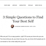 Finding Your Best Self, at No Sidebar