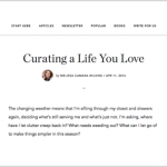 Curating a life you love, at No Sidebar