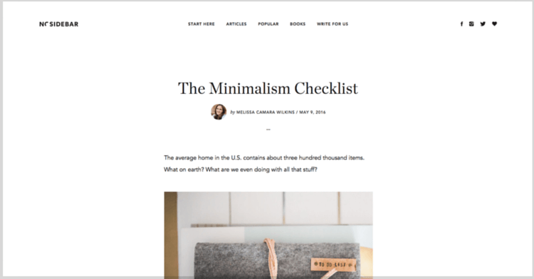 The simple living checklist a checklist for simple living for Minimalist living checklist